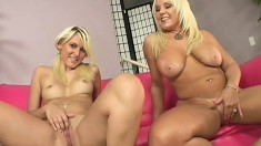 Hung stud joins a buxom milf and a lovely teen for a wild threesome