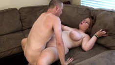 Chunky housewife Mary Jane has a tight peach yearning for a hard stick