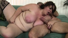 Chubby Joslyn Underwood has a horny old man roughly banging her cunt