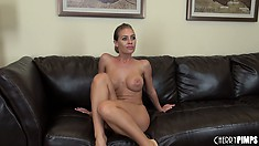Nicole does her striptease and shows off her tight ass and boobs