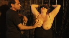 Huge breasted redhead plumper explores her lust for pain and pleasure