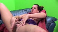 Busty Tory Lane gets drilled, deep throats and masturbates with a plug up her ass