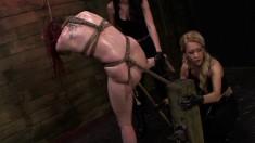Naughty girls Sheena, Mila and Brooklyn unleash their bondage desires