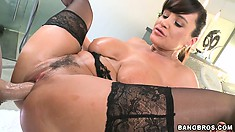 Lisa Ann is widely know for her ferocious love for stone-hard members