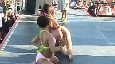 Straightforward bitches break loose and show their wonderful titties