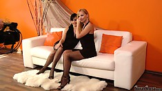 Foot fetish photo shoot with sexy babes Stacy Dasilva and Silvia