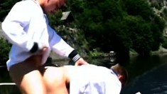 Sexy gay sailors blow each other's dicks and indulge in hot anal sex