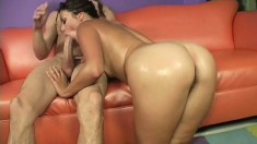 Cutie Allie Haze puts her fabulous ass on display and fucks a big cock
