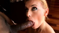 Busty mature blonde loves a big black to eat and drill both fuck holes