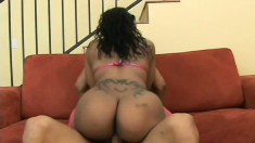 Ebony babe with a massive booty Cherokee has a huge black rod fulfilling her needs