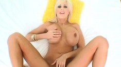 Lustful blonde milf with a perfect body Puma Swede gets pounded in POV