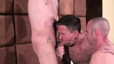 Saucy buck Matt Sizemore has some fun with Ross X and Patrick O Connor