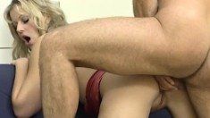 Desirable Blonde Wife Stephanie Fucks A Hung Stud In The Living Room
