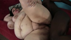 Chunky brunette housewife Desiree Divine feeds her lust for black meat