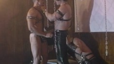 A little S&M with these gay boys eating dick and getting ass slammed