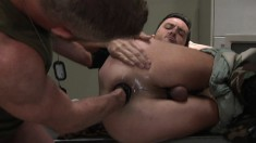 Army guy engages in an exciting fisting frenzy with his lustful lover
