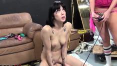 Brunette slut Asphyxia Noir enjoys a wild session of intense pounding