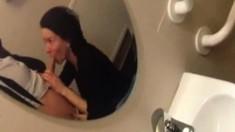 Hot brunette taking a shower on hidden cam