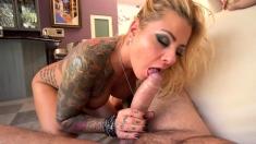 Blonde milf with big boobs get anal fun