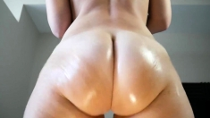 Fetish Redheaded Hoe Fingers Pussy And Ass In Solo