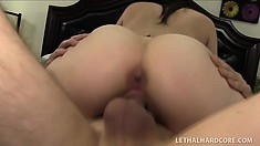 Girl with perfectly chubby forms Noelle Easton tastes wonderful dick