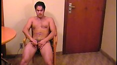 Carlo Nacioa gets nasty and rubs his thick hard man meat for your pleasure