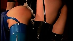 Anastasia Pierce is a dominatrix who loves having her slave wear latex