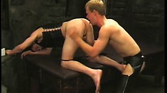 Kinky gay studs Bryan Archer and Ty Parks indulge in hardcore anal action