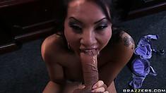 Naughty Asian MILF gets off blowing Dr. Blue's bulging boner