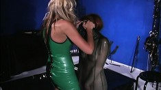 Slave girls are put in a latex wrap with all the air drained out to freeze them up