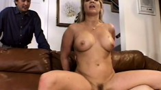Horny housewife Mrs Ortega gets fucked in the ass and her man watches