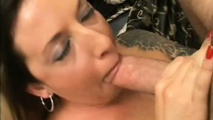 Gorgeous tattooed MILF wants to please this cock any way she can